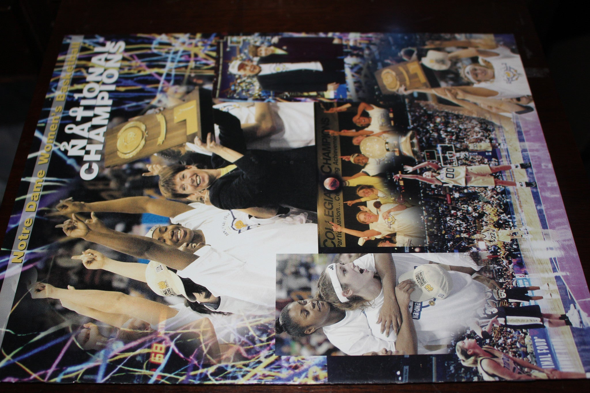 2001 Notre Dame Women's National Basketball Champions Banquet Program - Vintage Indy Sports