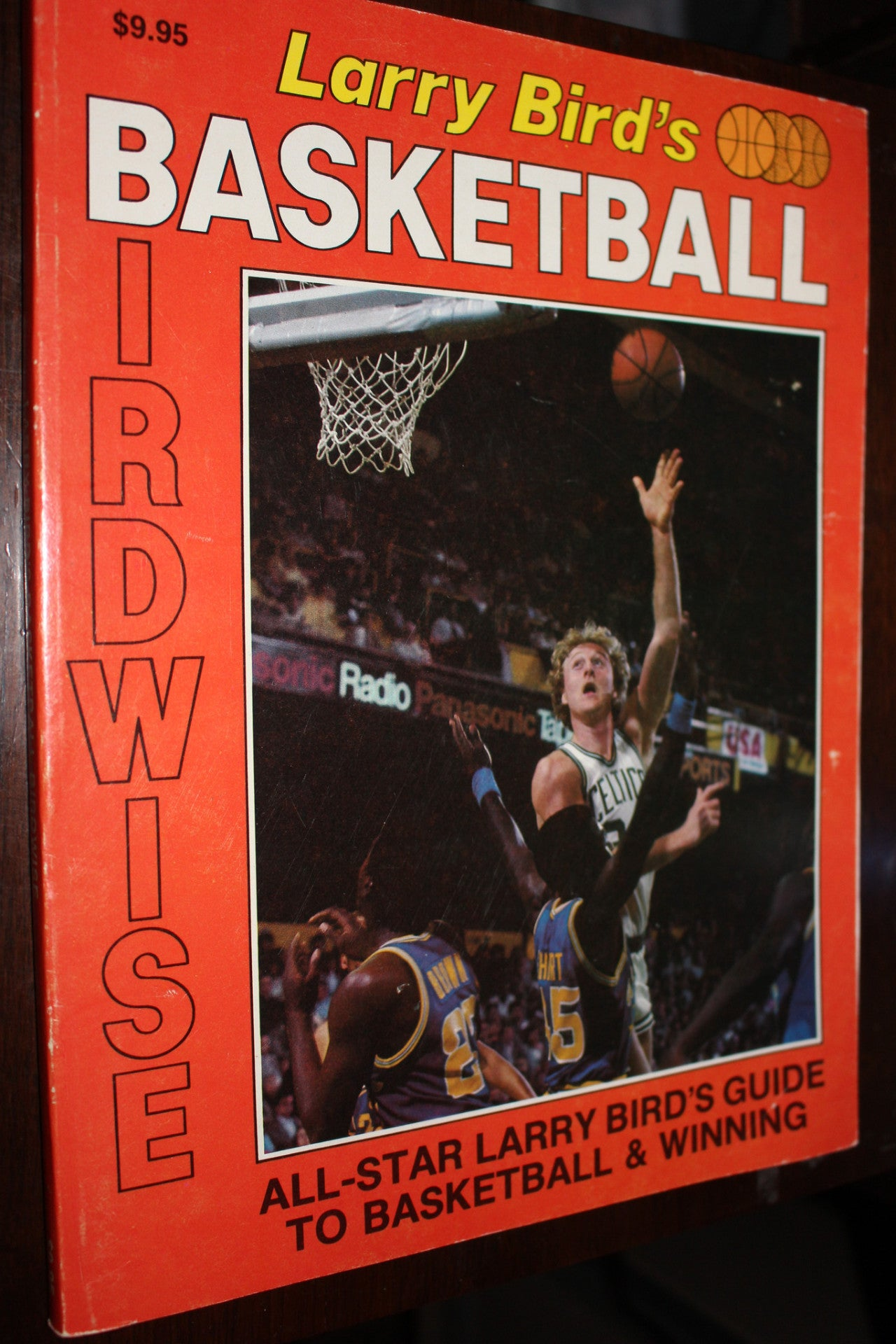 Larry Bird's Birdwise Basketball Oversized Paperback Book - Vintage Indy Sports