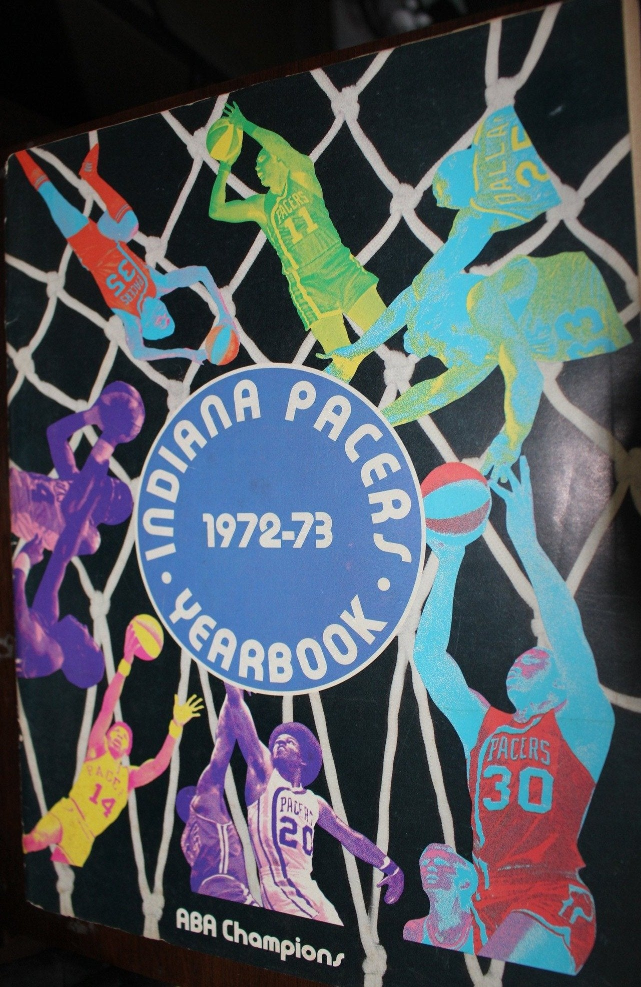1972-73 Indiana Pacers ABA Basketball Yearbook - Vintage Indy Sports