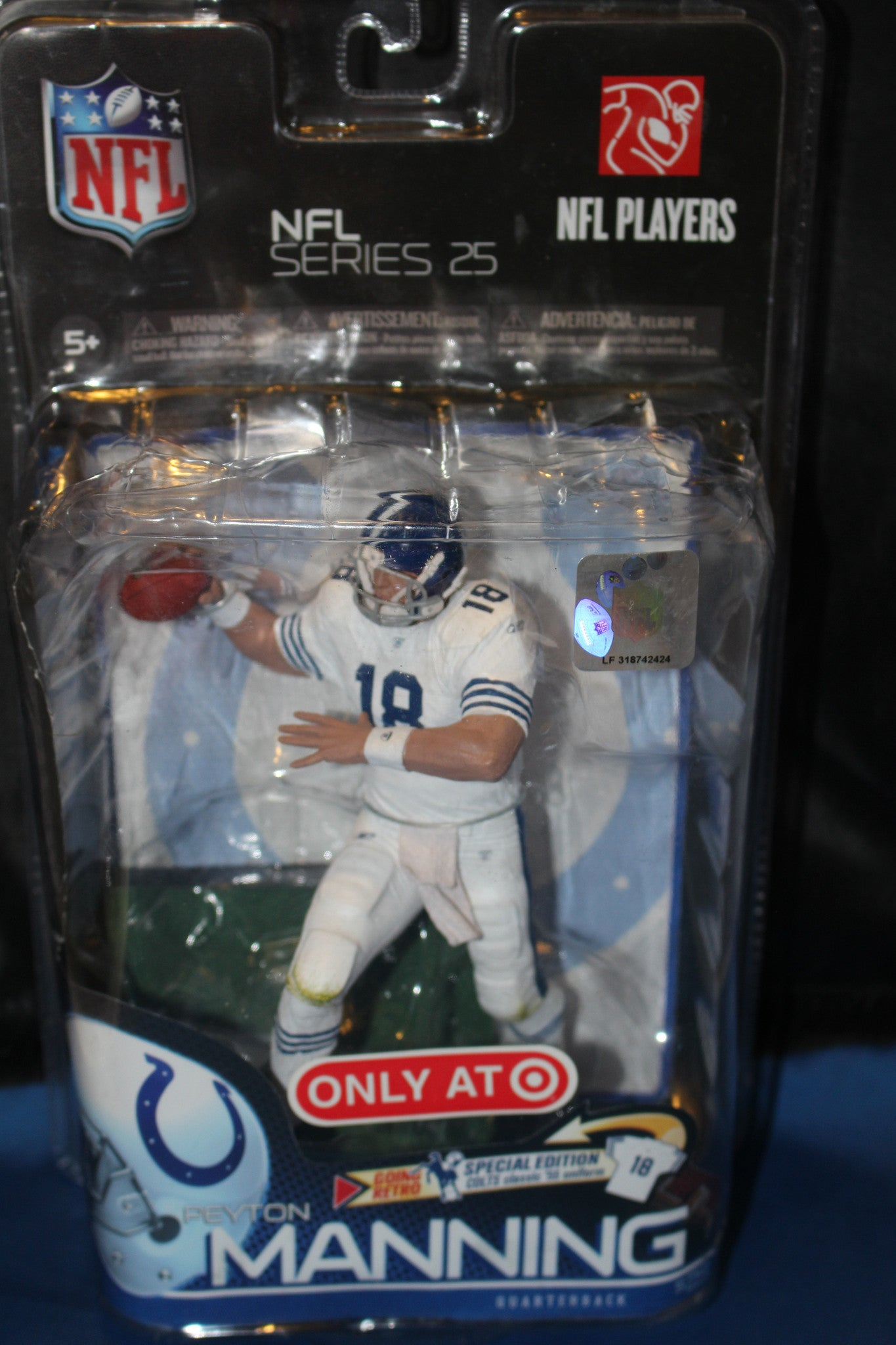 Peyton Manning McFarlane Series 25 Retro Special Edition - Vintage Indy Sports