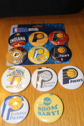 11 Indiana Pacers Pinback Buttons