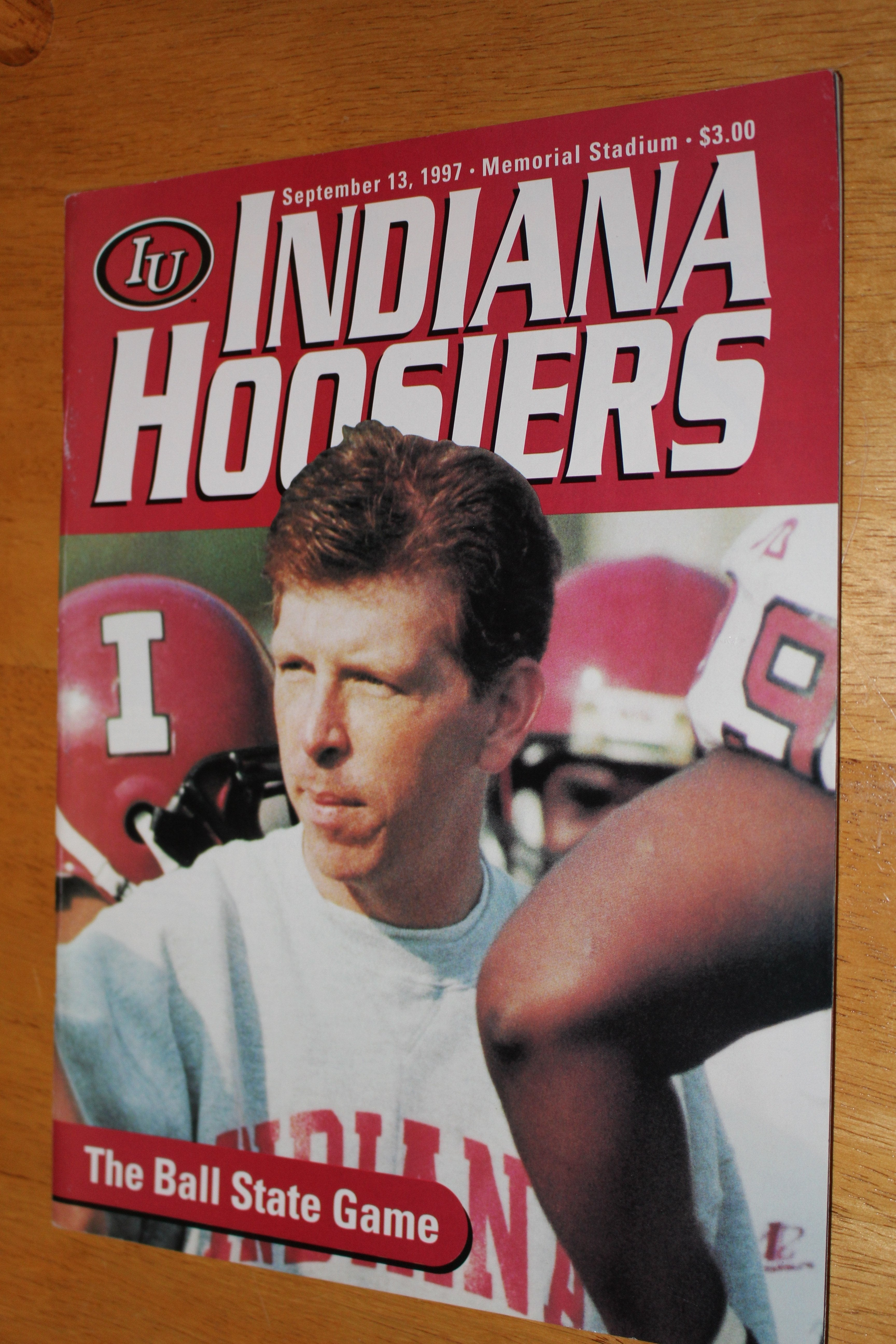 1997 Indiana University vs Ball State Football Game Program - Vintage Indy Sports