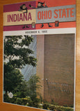 1965 Indiana University vs Ohio State Football Program - Vintage Indy Sports