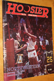 1984 Indiana vs Northwestern Basketball Program - Vintage Indy Sports