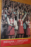1973 Indiana University vs Kentucky Football Program - Vintage Indy Sports