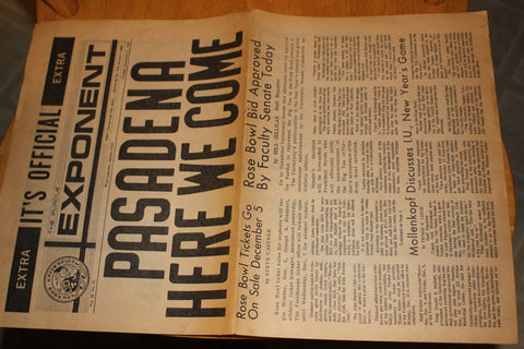 (3) 1966 Purdue University Football Rose Bowl Related Newspapers