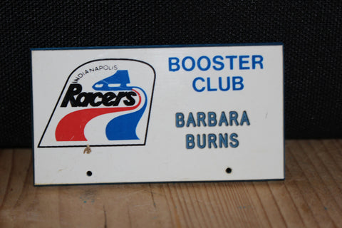 1970's Indianapolis Racers Booster Club Name Tag