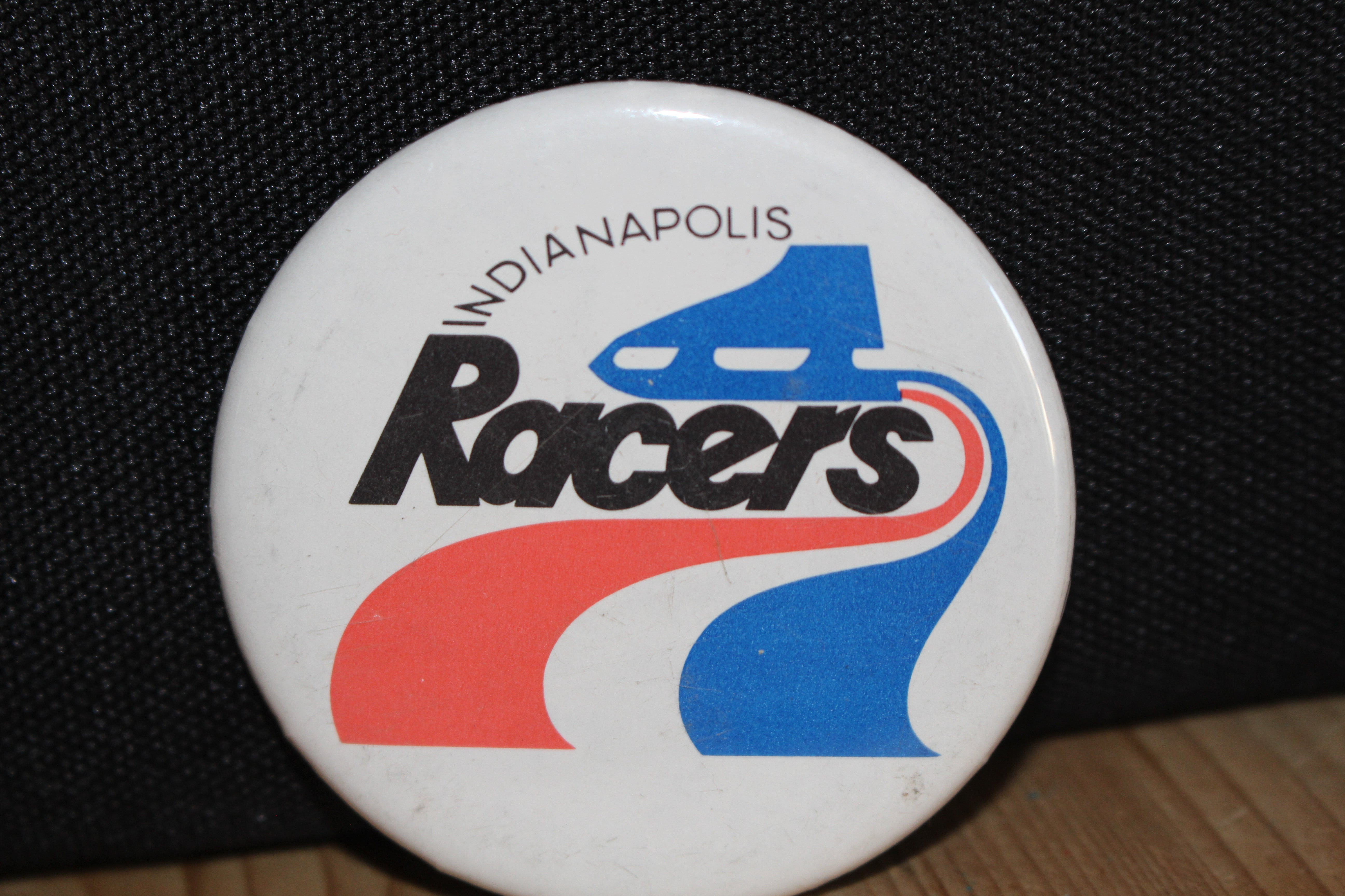 Vintage 1970's Indianapolis Racers 2 Inch Button WHA Hockey