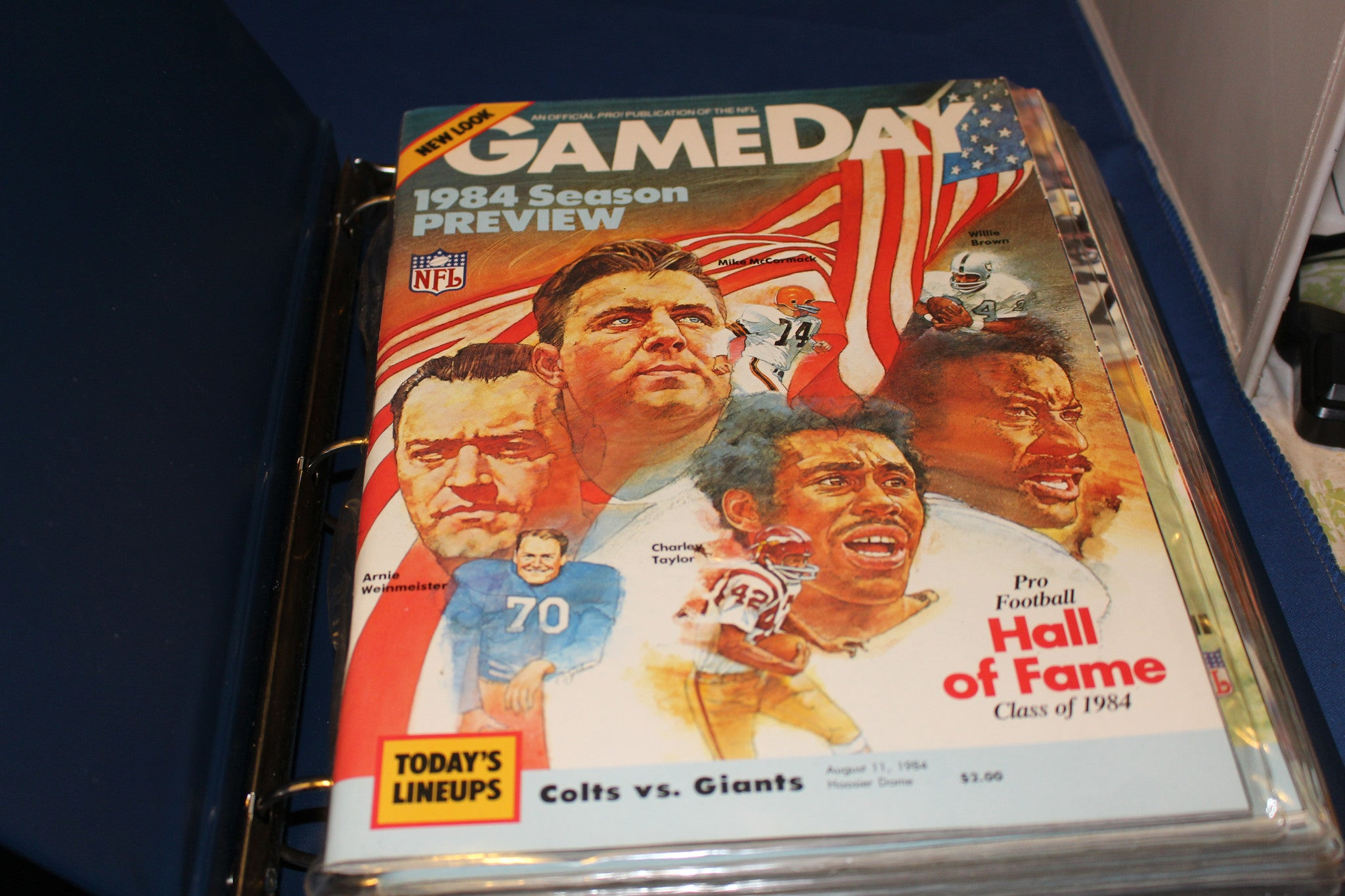 1984 Indianapolis Colts Programs from 9 Home Games - Vintage Indy Sports