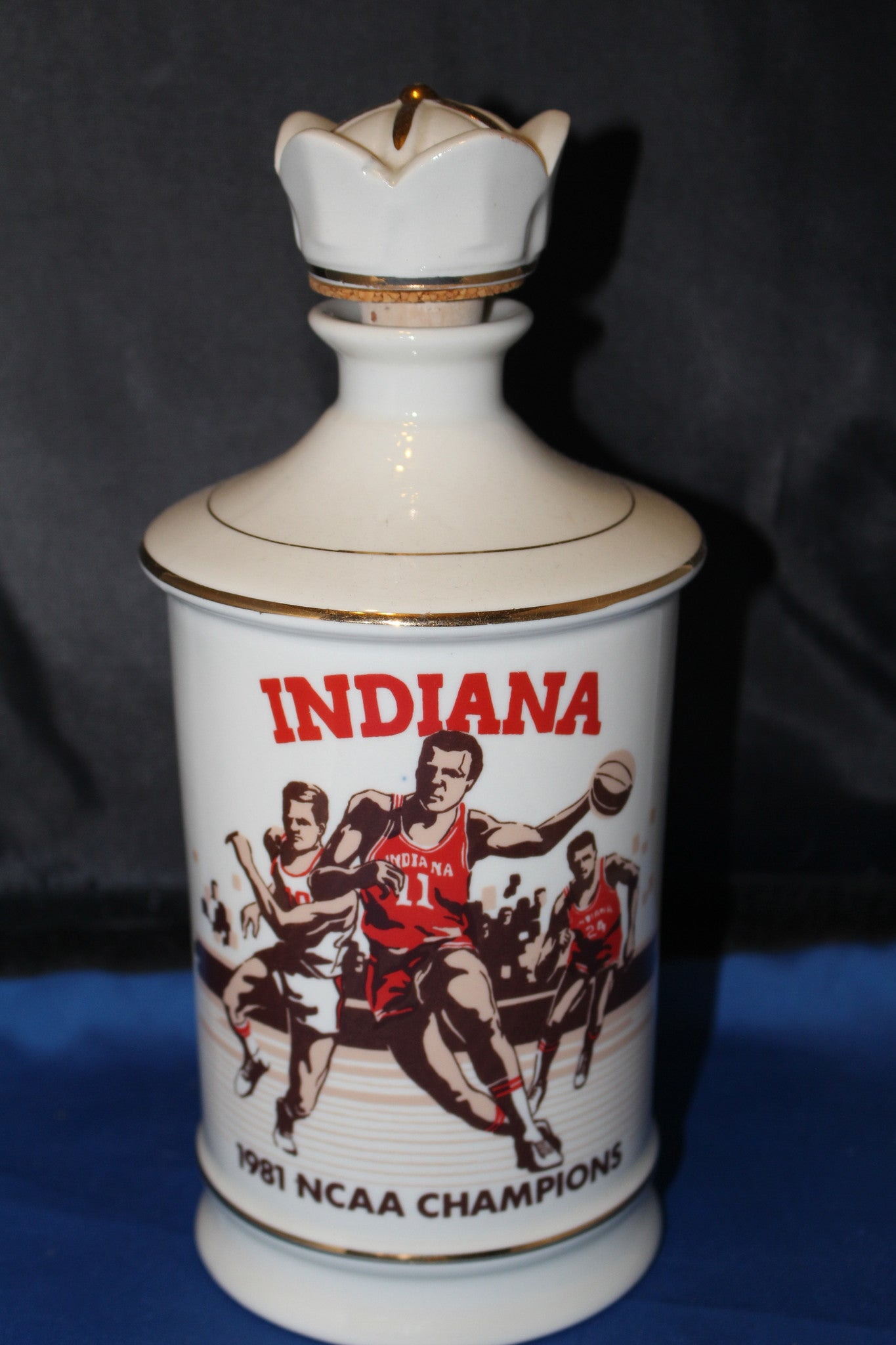 1981 Indiana University NCAA Basketball Champions Decanter - Vintage Indy Sports