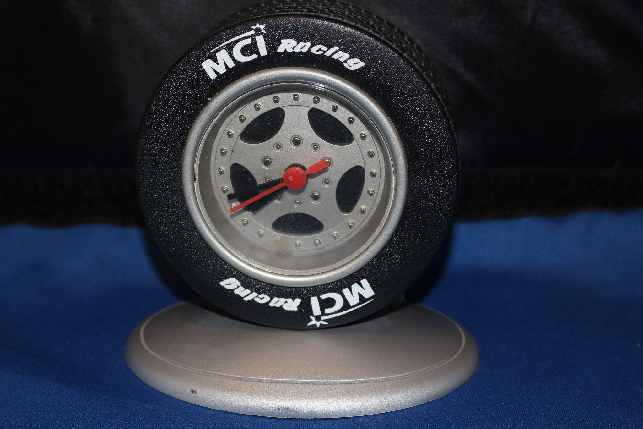 Mci racing tire desk clock vintage indy sports