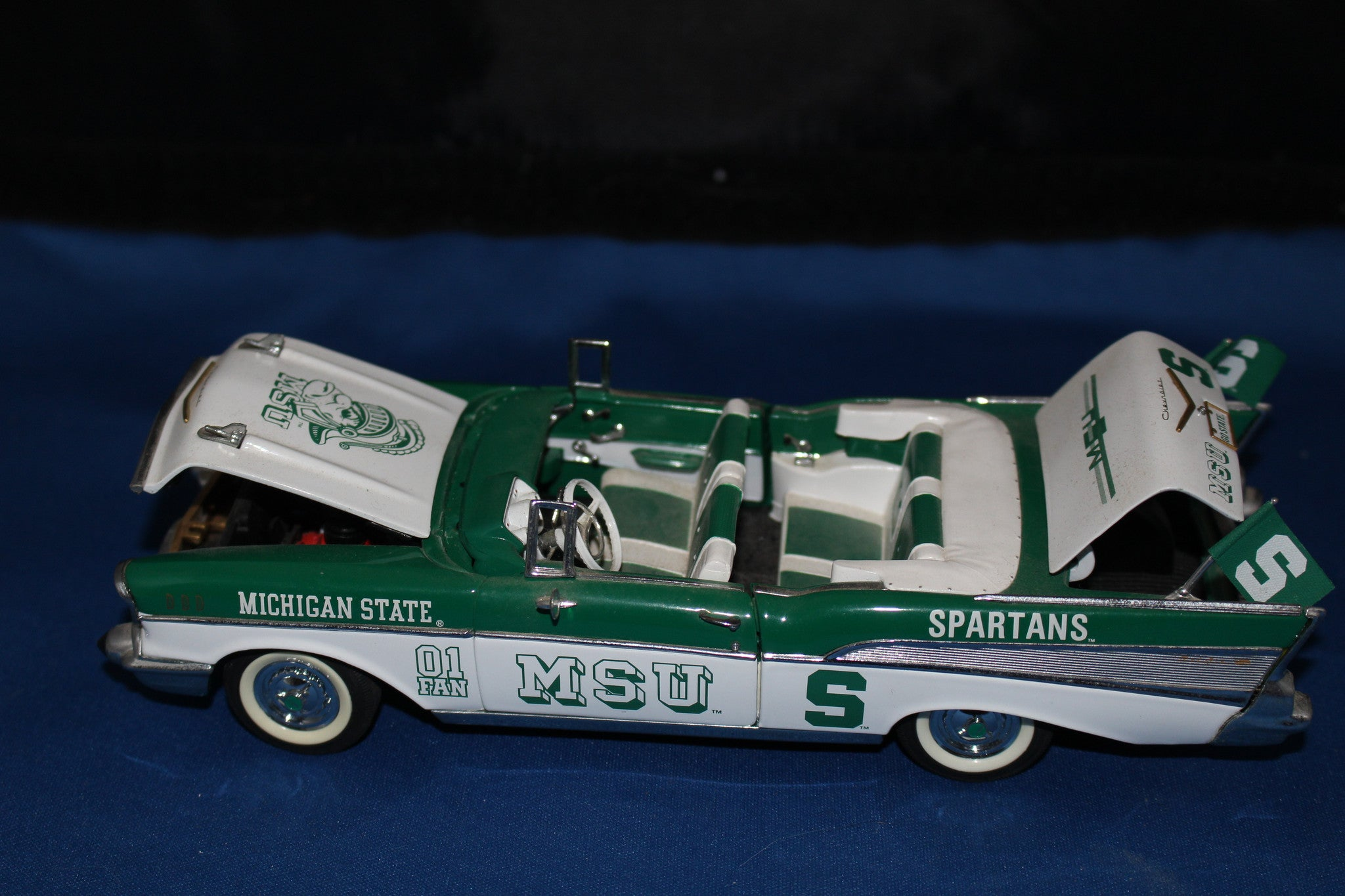 Danbury Mint Michigan State 1957 Chevrolet Bel Air #1 Fan Diecast Car - Vintage Indy Sports