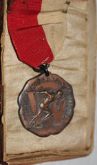 1931 Wisconsin High School 100 YD Dash State 4th Place Medal - Vintage Indy Sports