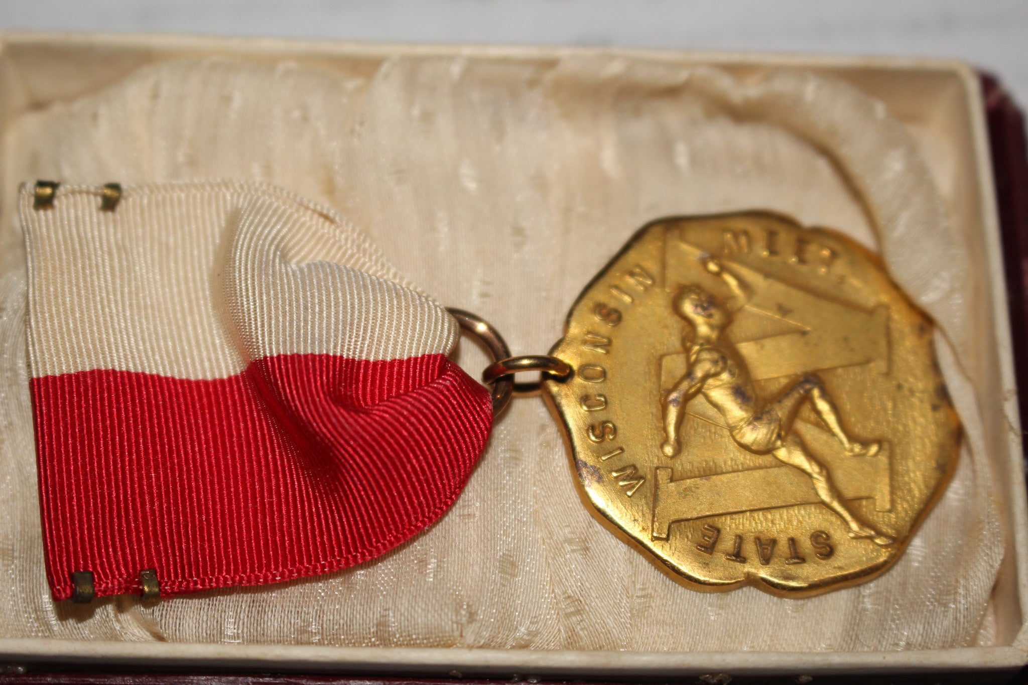 1929 Wisconsin High School 440 YD State Champion Medal - Vintage Indy Sports
