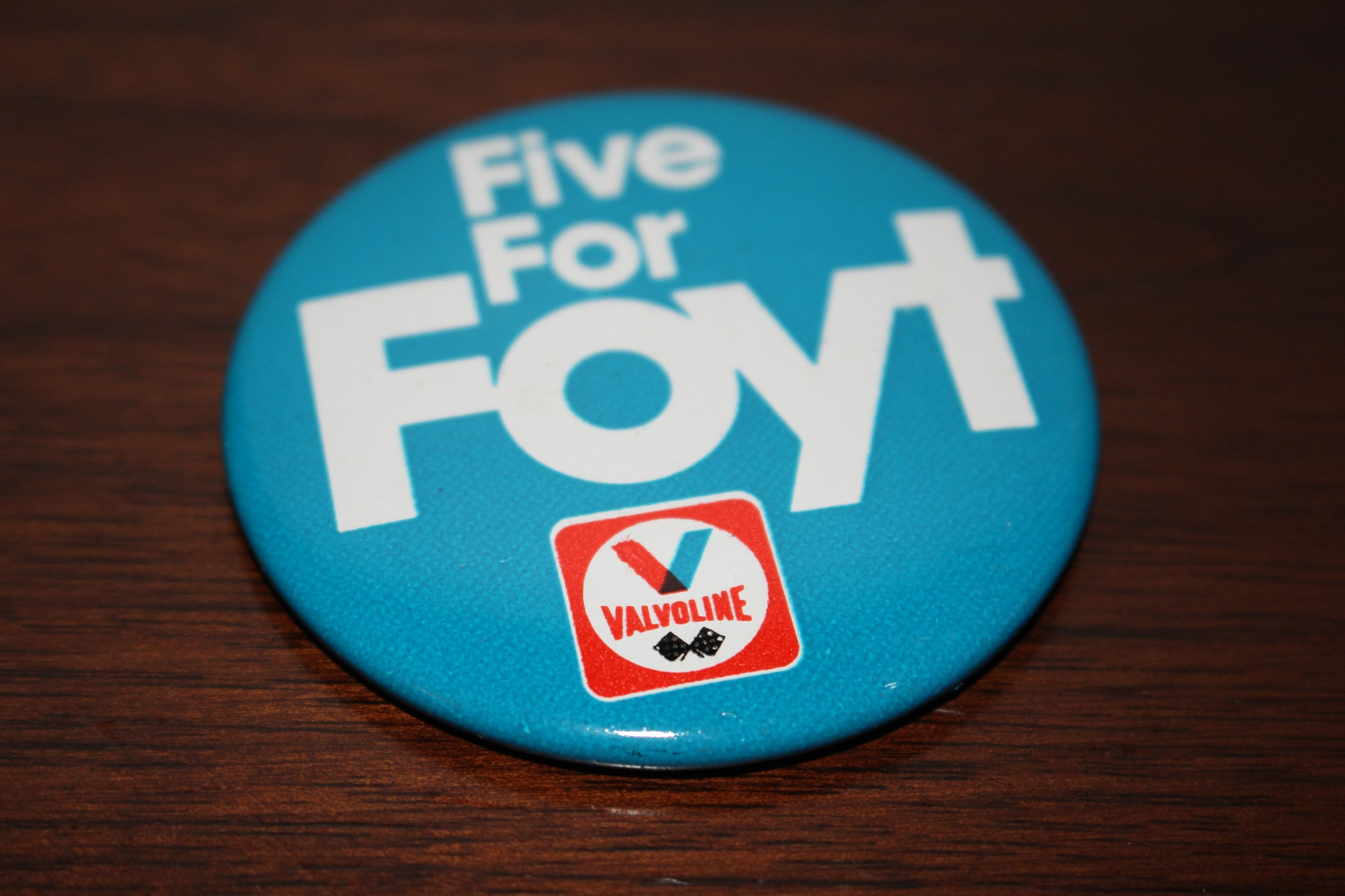 Vintage Five For Foyt PInback Button - Vintage Indy Sports