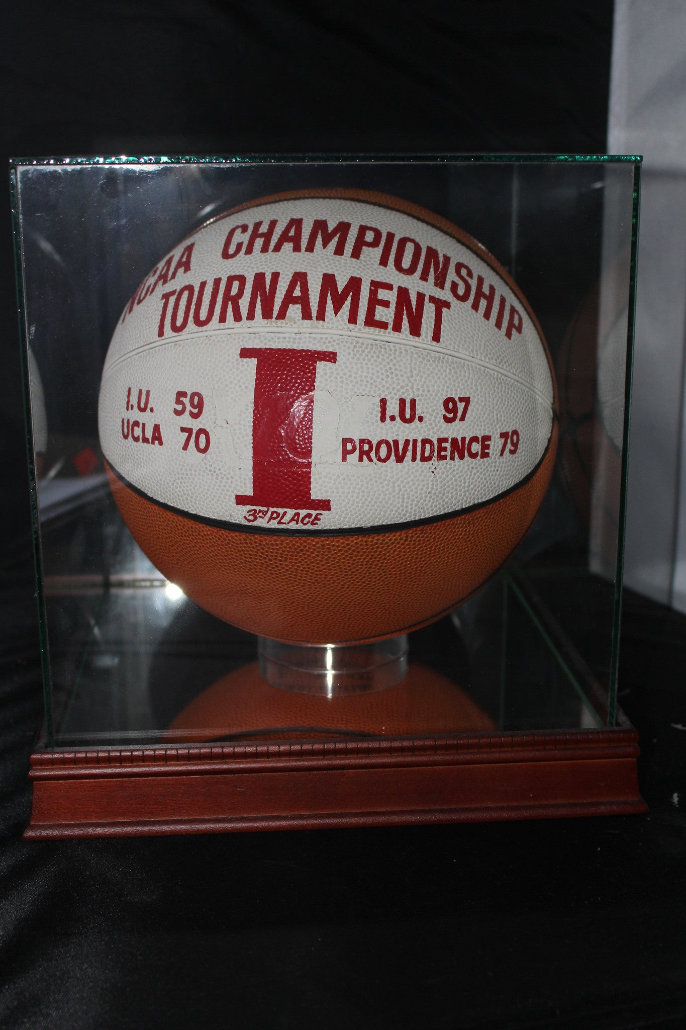 1973 NCAA 3rd Place Game Used Basketball, Indiana University - Vintage Indy Sports