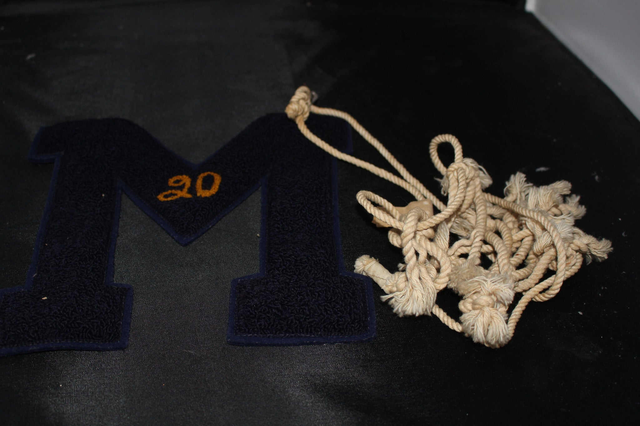 1956 Marion High School Letter & Regional Basketball Championship Net - Vintage Indy Sports