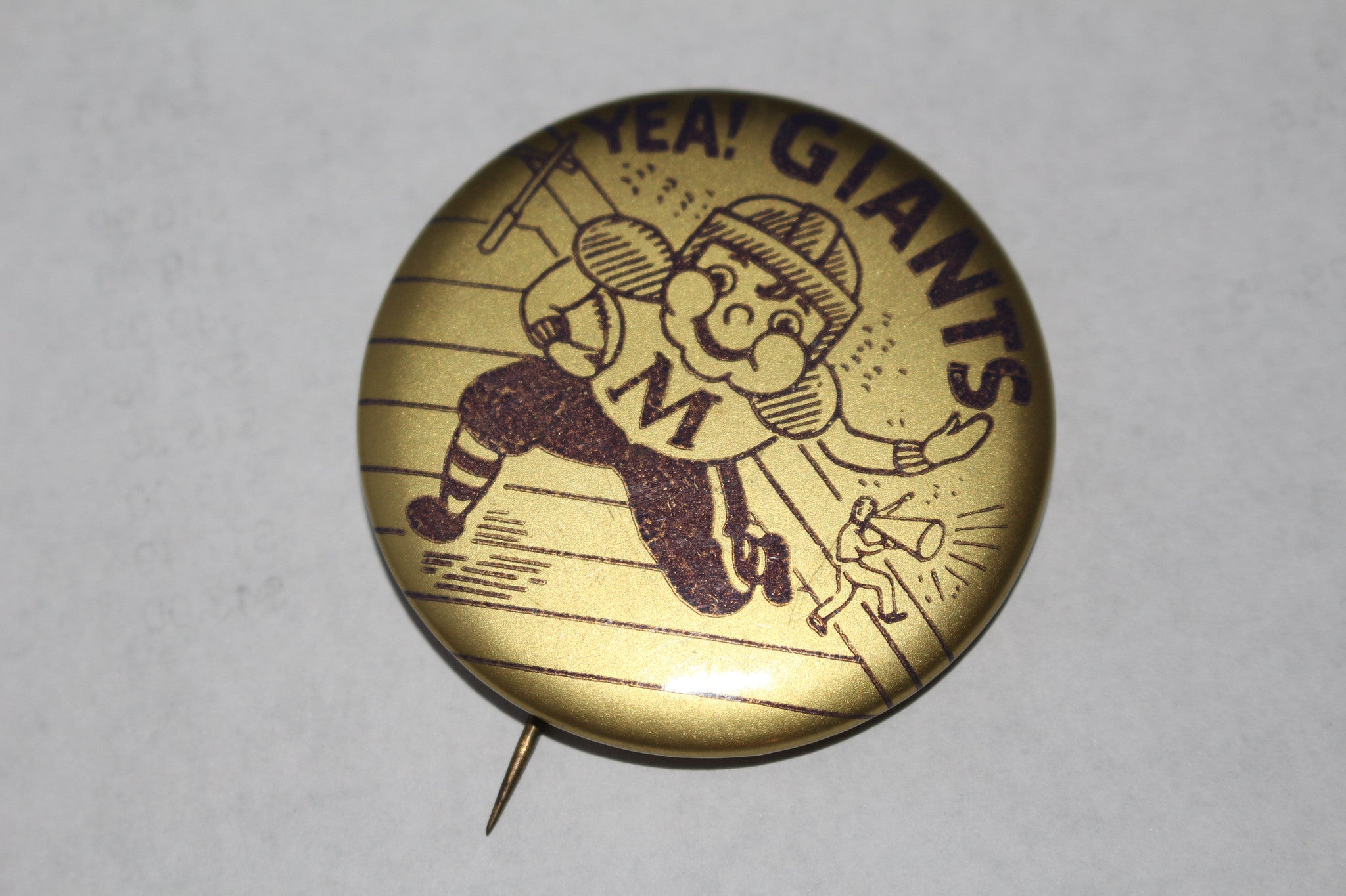 Vintage 1950's Marion, Indiana High School Football Pinback Button - Vintage Indy Sports