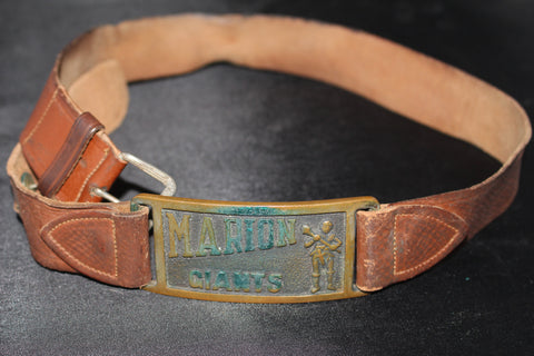 Vintage 1950's Marion, Indiana High School Decathlon Belt