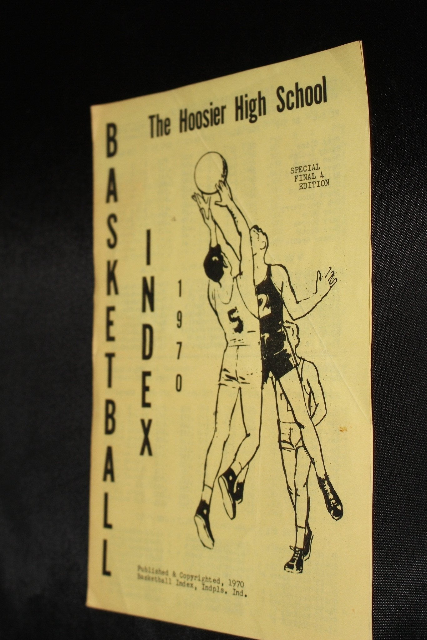 1970 Hoosier High School Basketball Index Special Final 4 Edition - Vintage Indy Sports