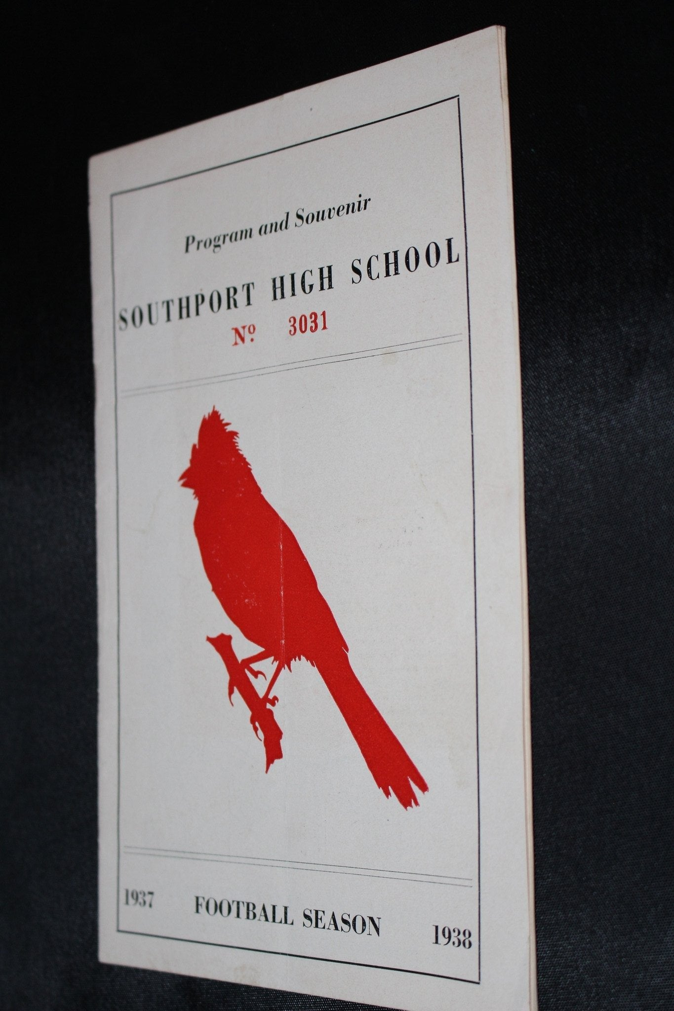 1937 Southport vs Shortridge Indiana High School Football Program - Vintage Indy Sports