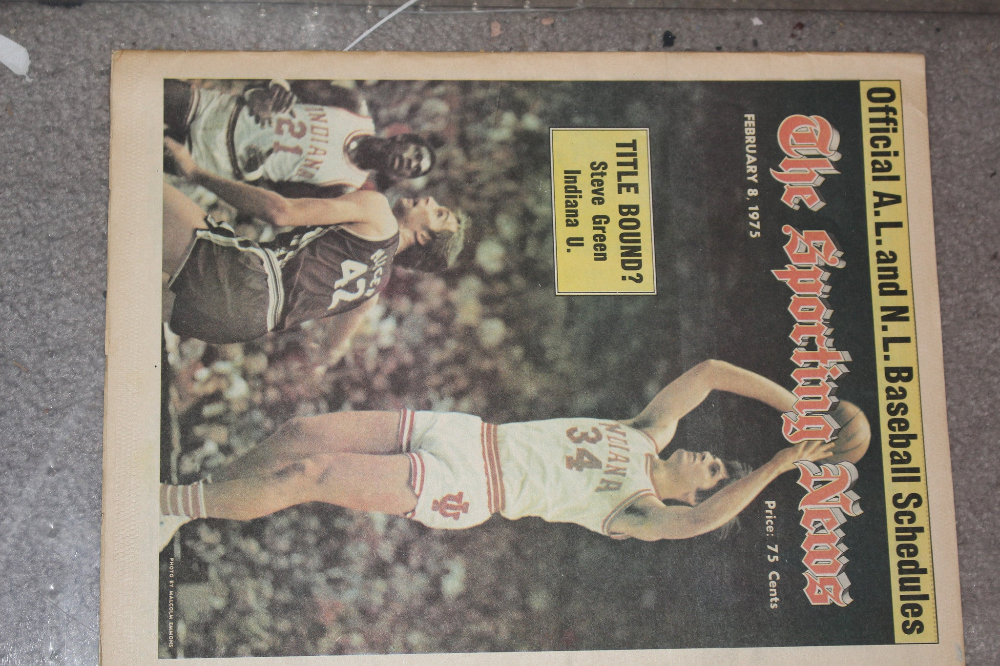 1975 Sporting News Magazine Steve Green Indiana University Basketball - Vintage Indy Sports