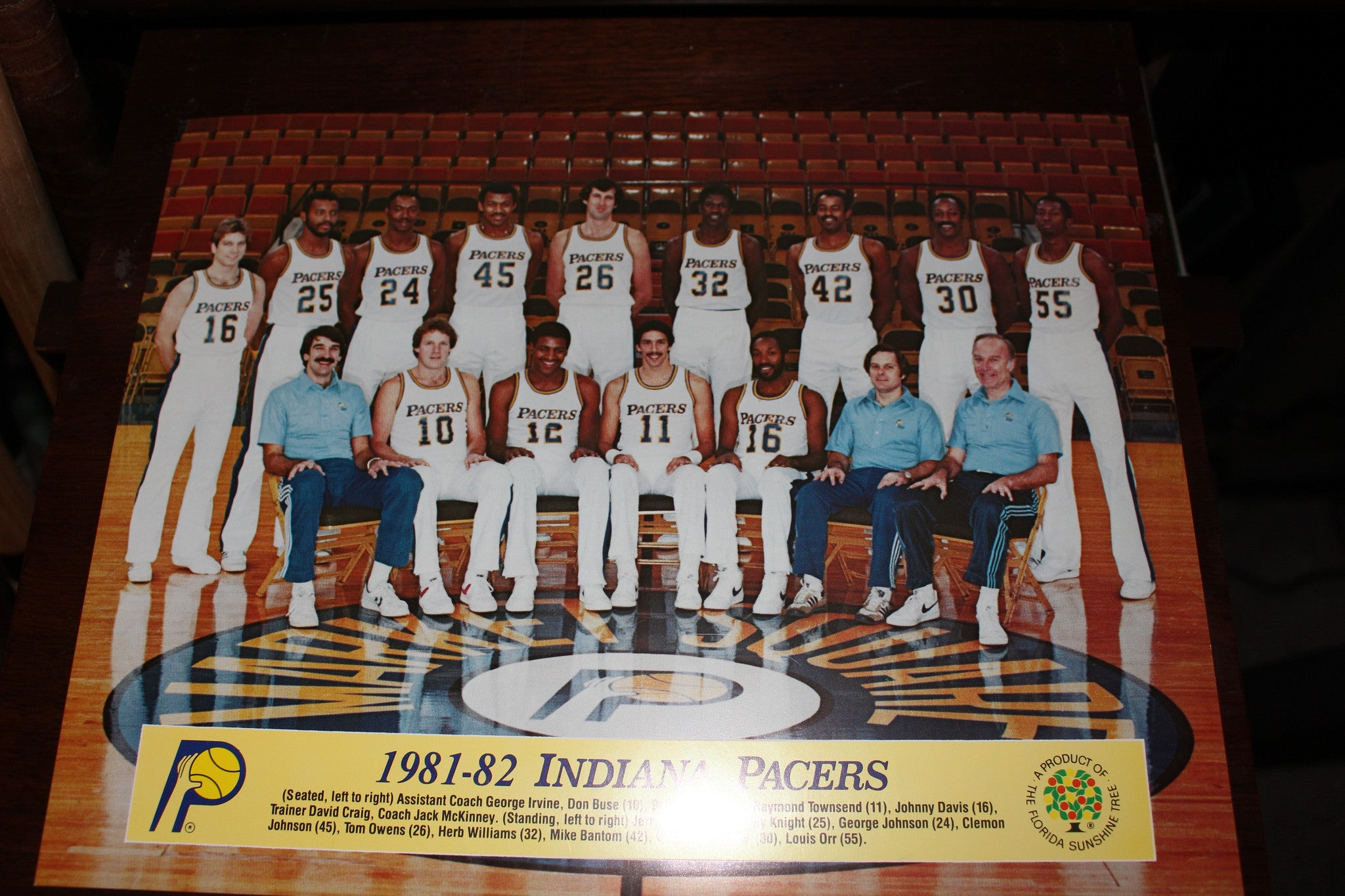1981-82 Indiana Pacers Team Photo - Vintage Indy Sports
