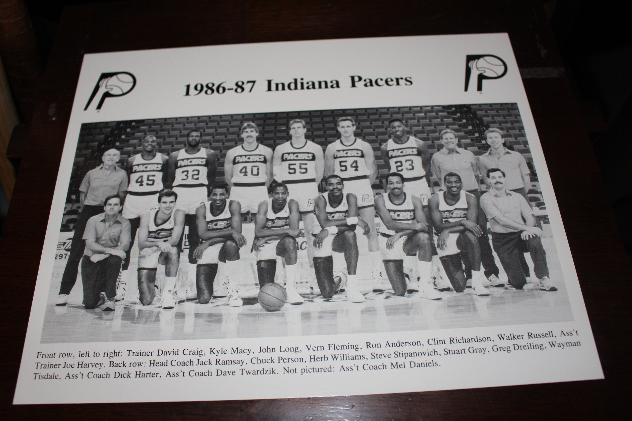 1986-87 Indiana Pacers Team Photo - Vintage Indy Sports