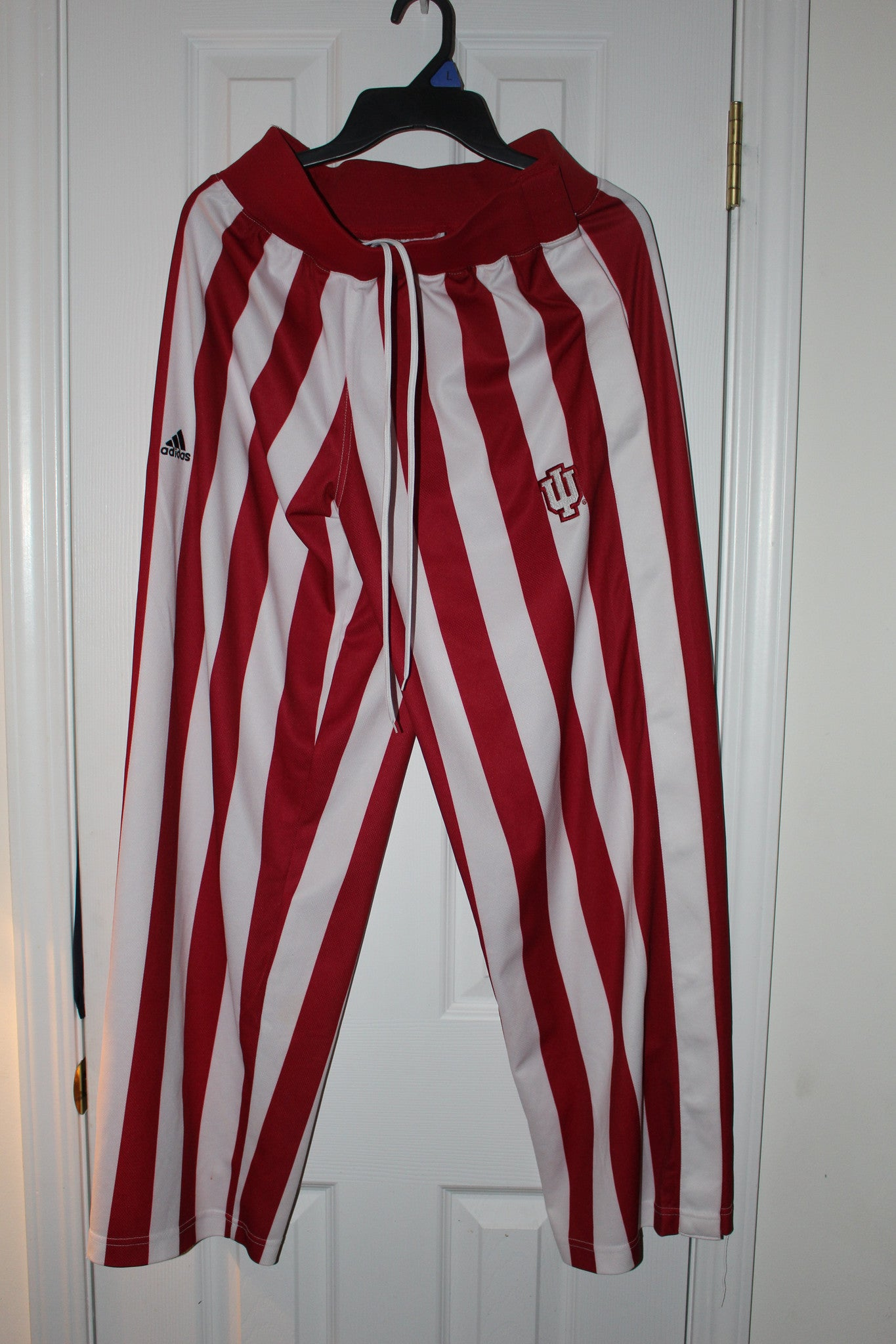 Indiana University Basketball Candy Stripe Warm Up Pants, SZ SM - Vintage Indy Sports