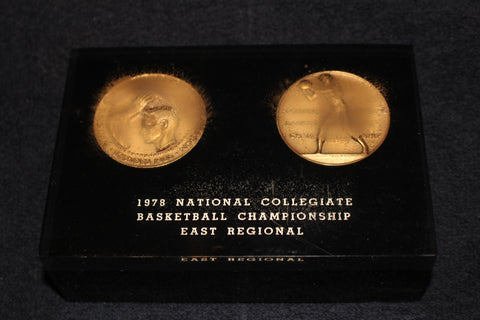 1978 NCAA East Regional Indiana University Players Medallion Display