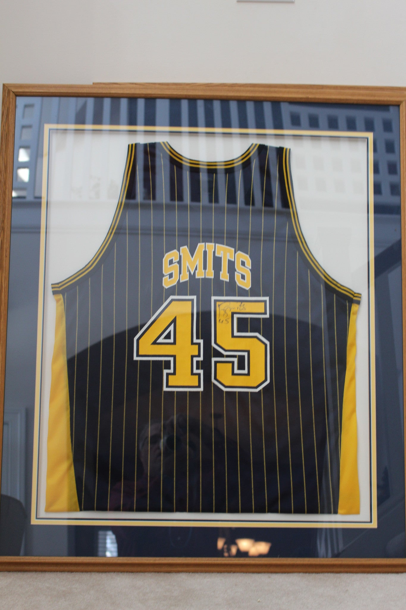 Rik Smits Framed & Autographed Indiana Pacers Jersey - Vintage Indy Sports