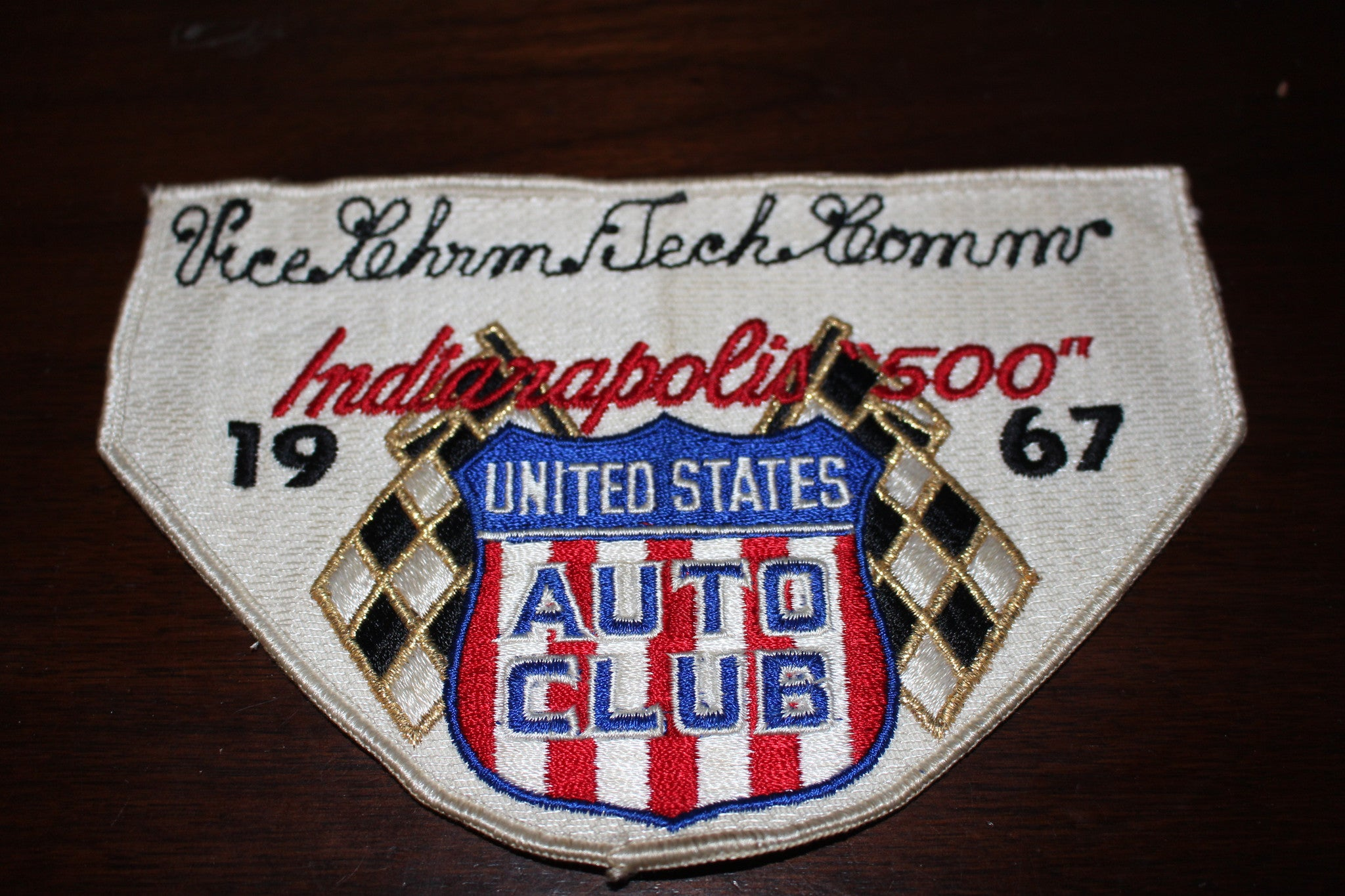 1967 Indianapolis 500 Vice Chairman Technical Committee Arm Band - Vintage Indy Sports