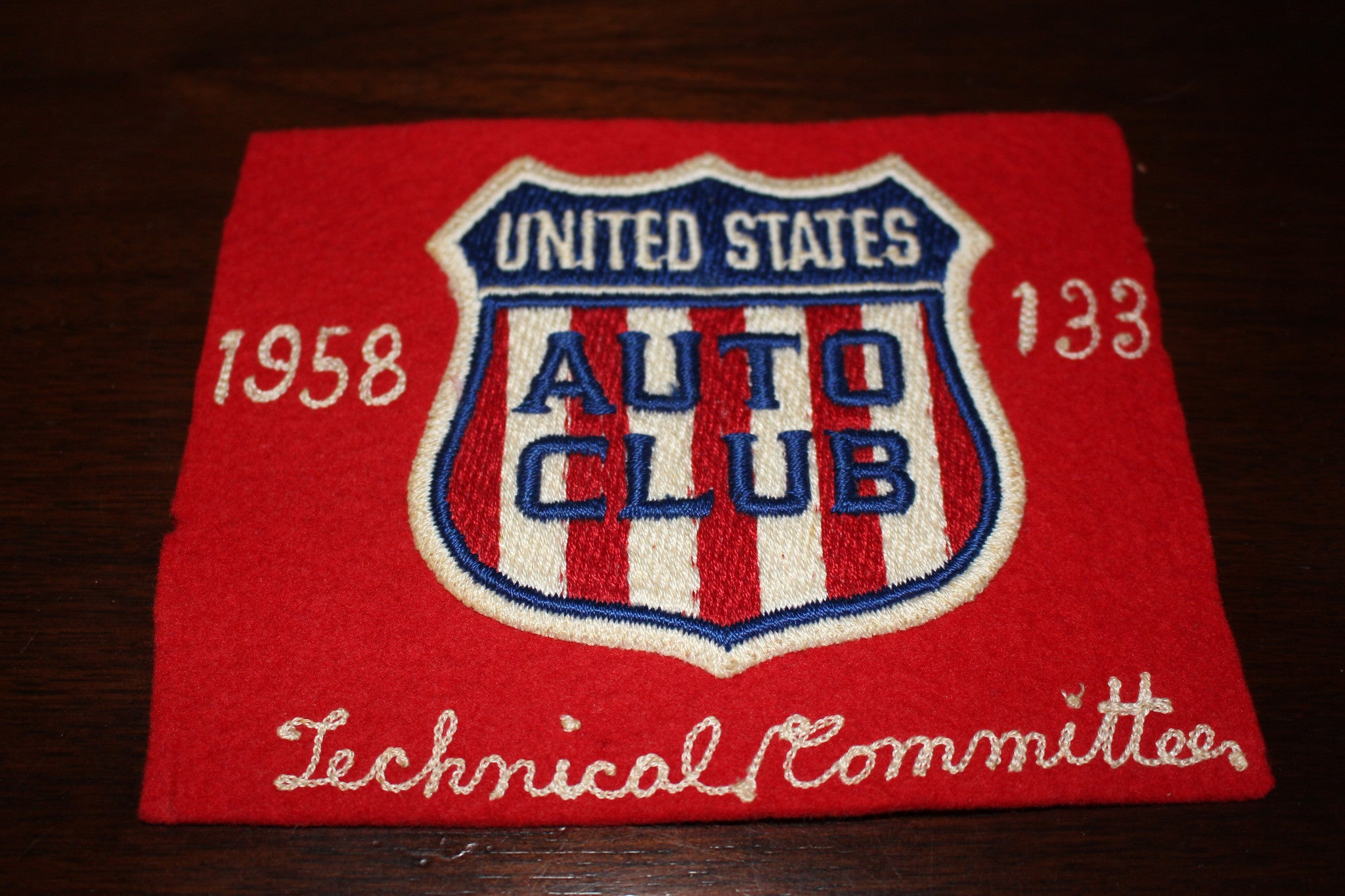 1958 Indianapolis 500 Technical Committee Arm Band - Vintage Indy Sports
