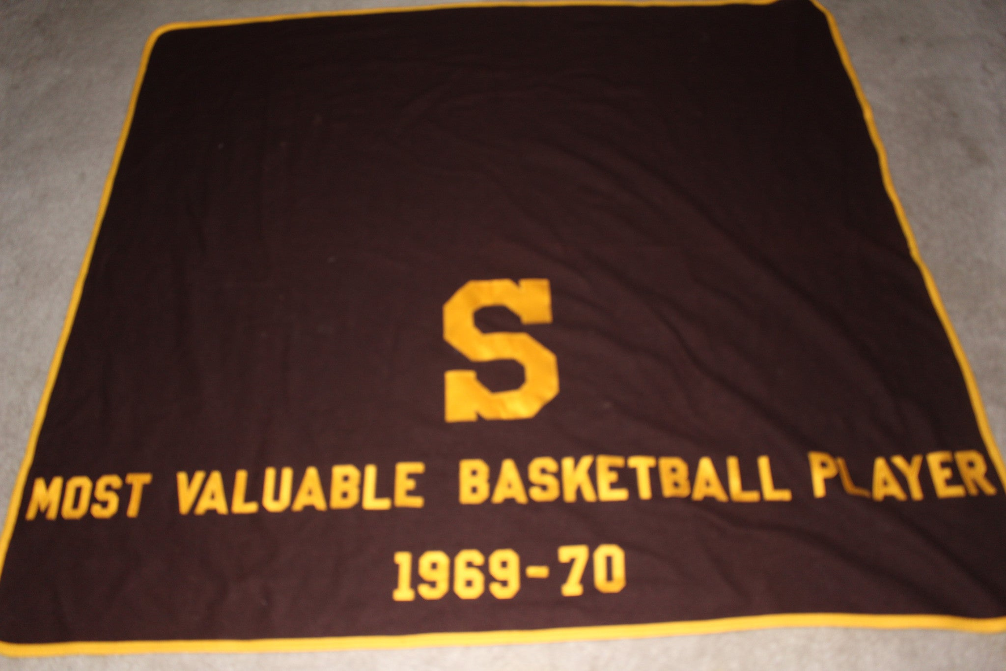 1969-70 Speedway, Indiana High School Basketball Most Valuable Player Blanket - Vintage Indy Sports
