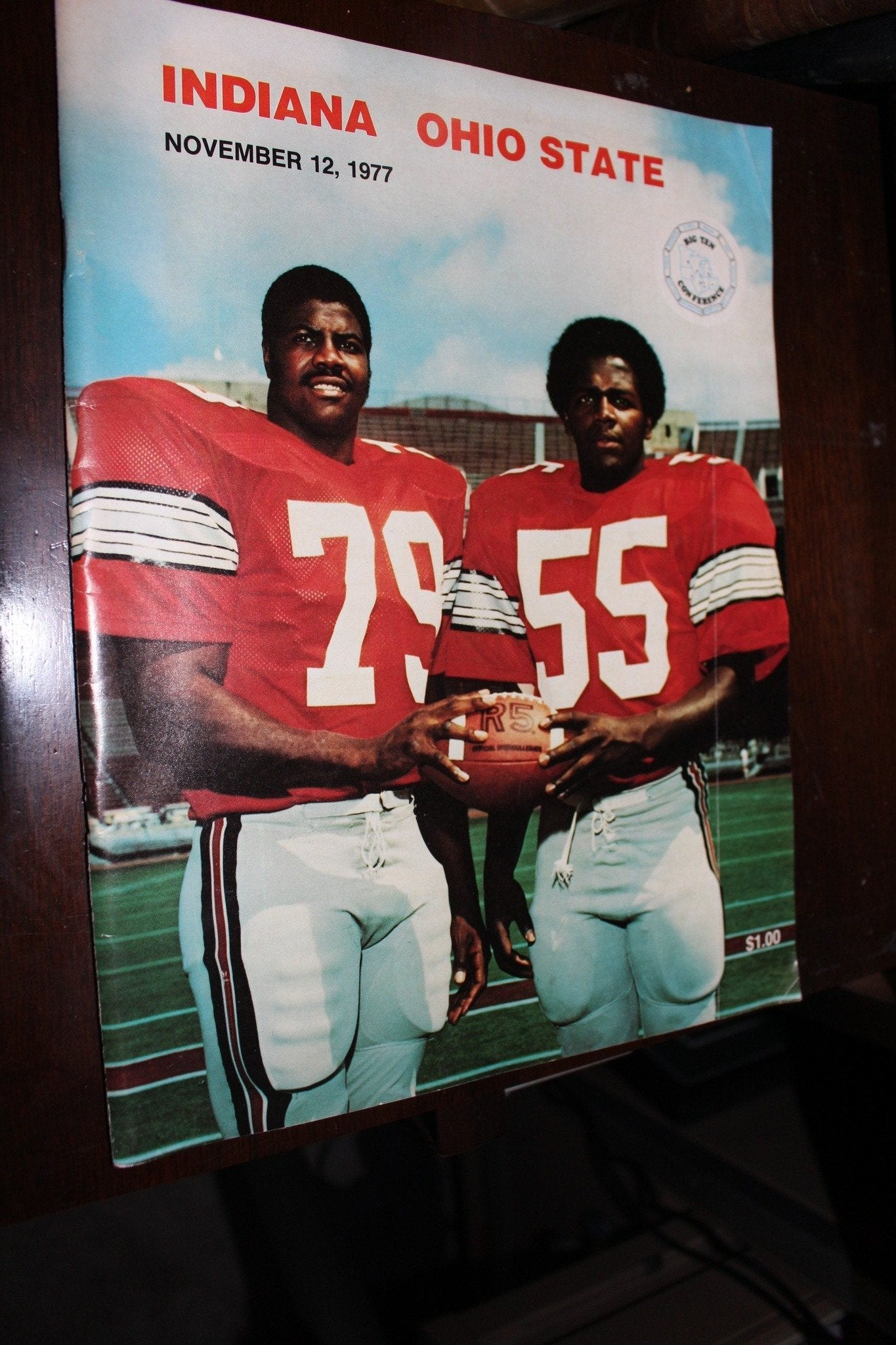 1977 Indiana vs Ohio State Football Program - Vintage Indy Sports