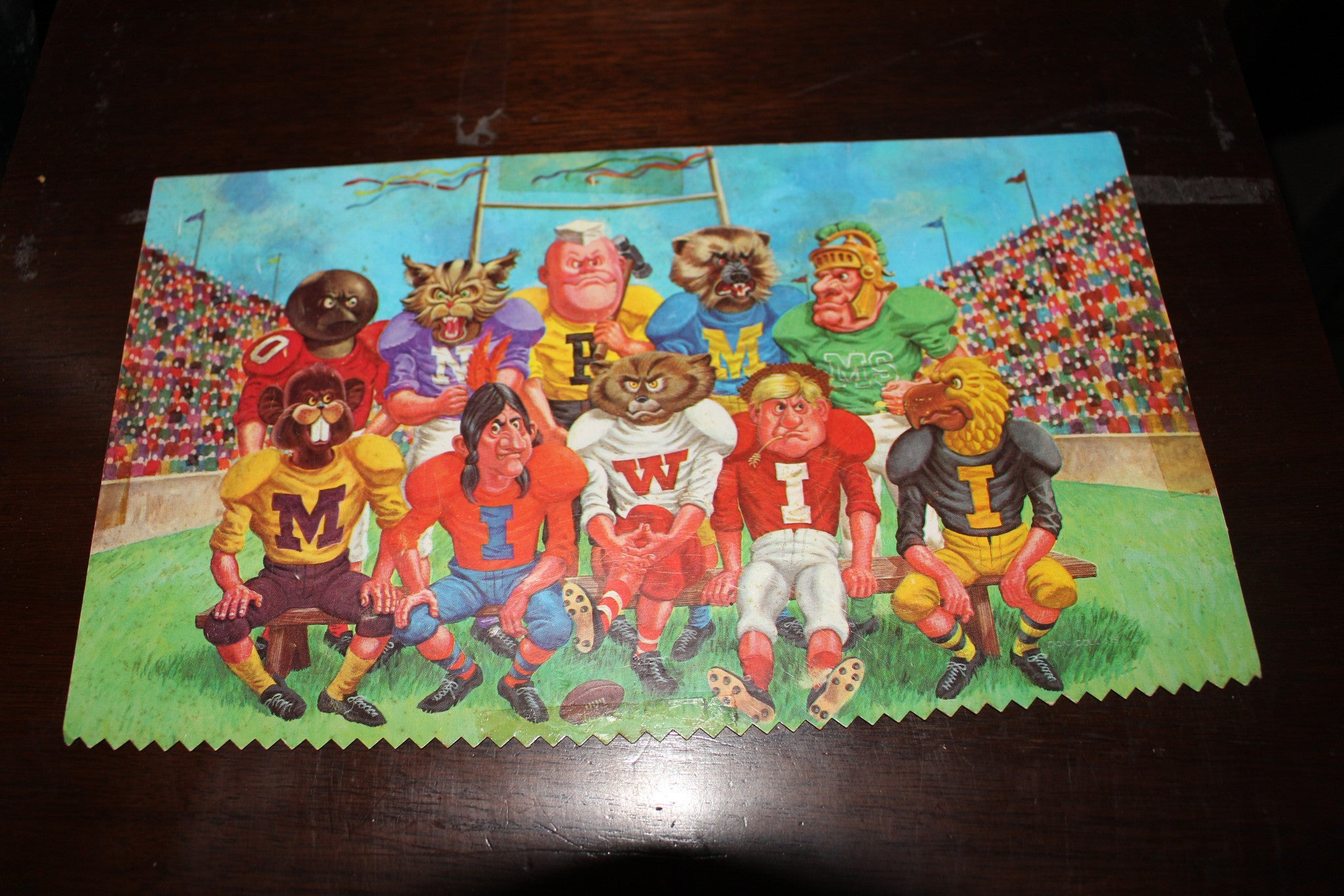 Vintage Big Ten Conference Oversized Postcard - Vintage Indy Sports