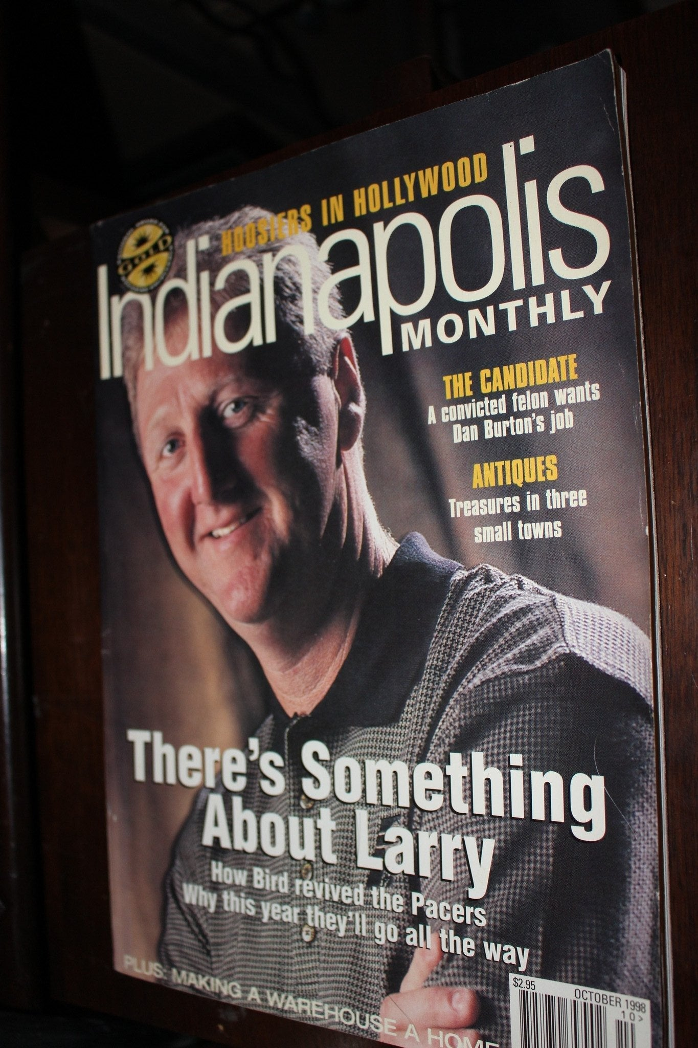 October 1998 Indianapolis Monthly, Larry Bird on Cover - Vintage Indy Sports