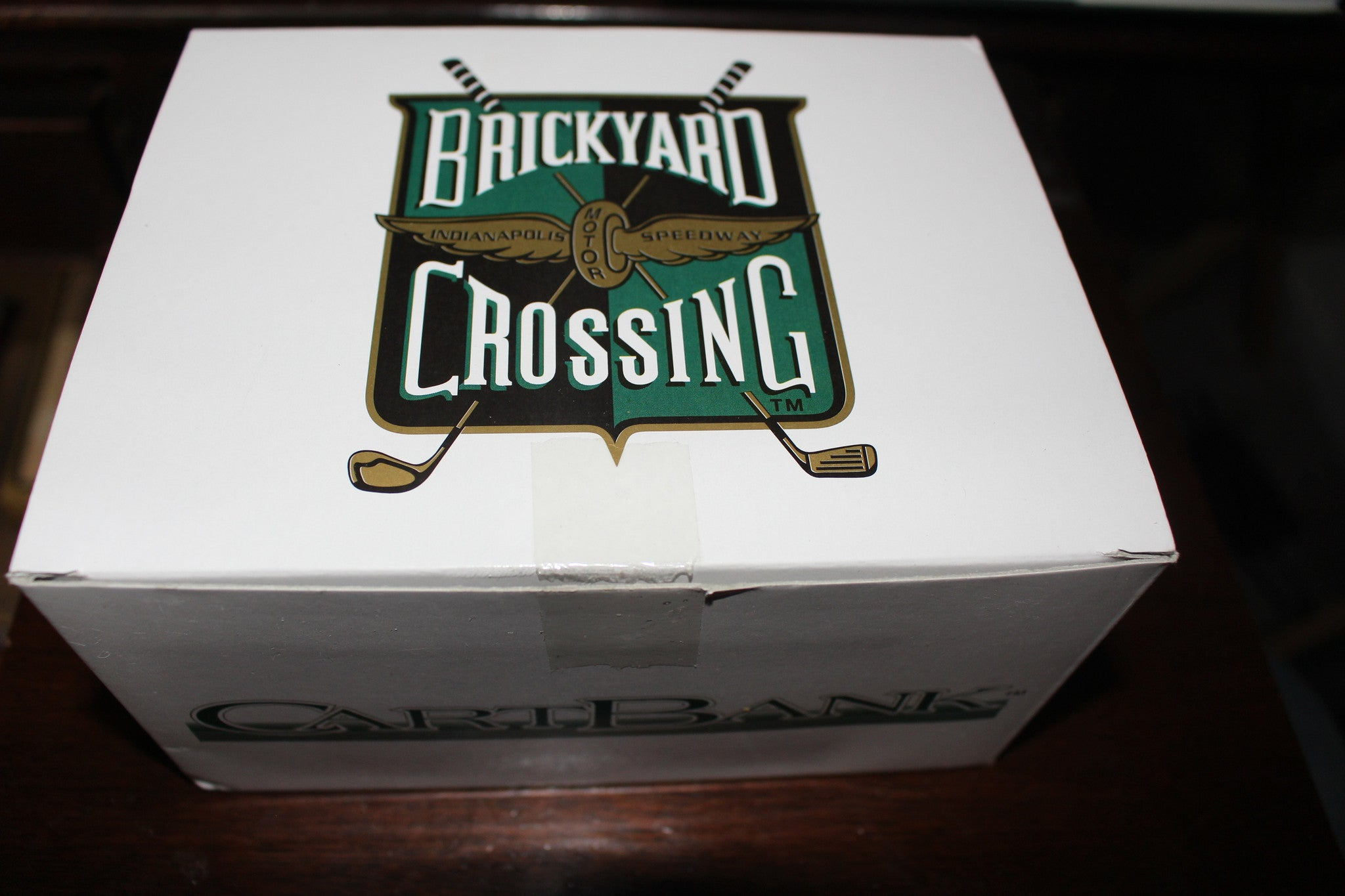 Brickyard Crossing Diecast Golf Cart Bank, New in Box!  1:16 Scale - Vintage Indy Sports