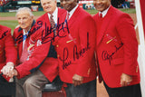 St. Louis Cardinals Hall of Famers Multi Signed & Framed 16x20 Photo, LE 29/100 - Vintage Indy Sports