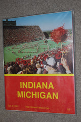 1981 Indiana University vs Michigan Football Program - Vintage Indy Sports