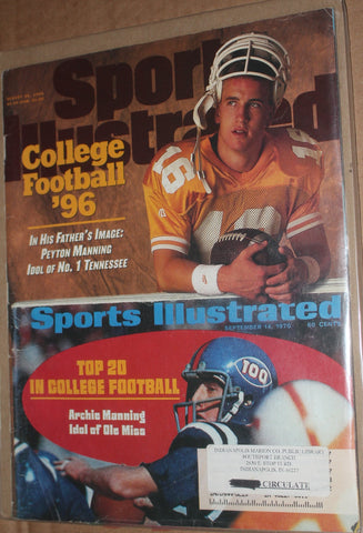 Aug 26, 1996 Sports Illustrated Issue, Peyton & Archie Manning