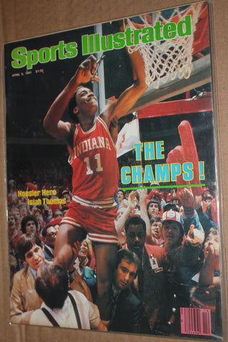 April 6, 1981 Sports Illustrated Issue, Isiah Thomas NCAA Champs, No Label