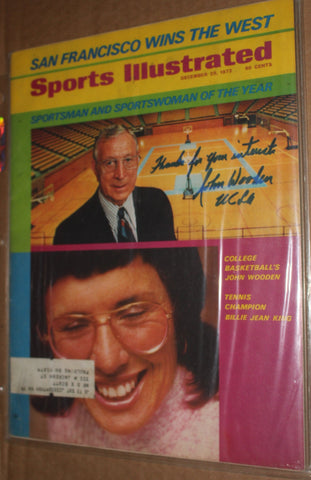 1972 John Wooden Autographed & Inscribed Sports Illustrated