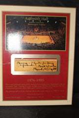 Bob Knight Autographed Indiana University Assembly Hall Floor Plaque - Vintage Indy Sports