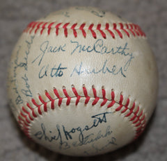 1942 Indianapolis Indians Team Signed Baseball, Gabby Hartnett Manager - Vintage Indy Sports
