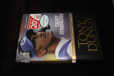 Tony Dungy Quiet Strength Autographed Book
