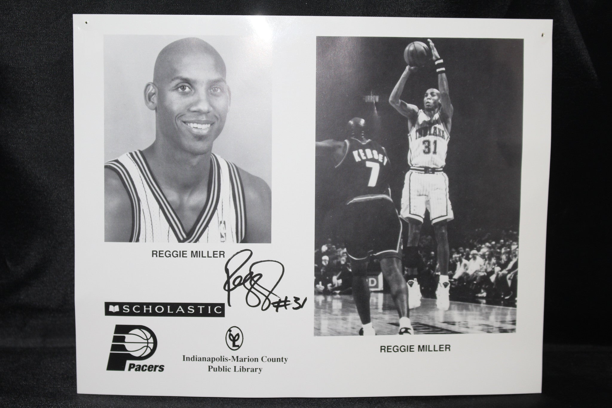 Reggie Miller Autographed Indiana Pacers Photo - Vintage Indy Sports