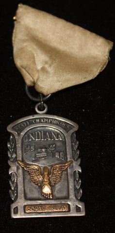 1941 Indiana High School Track & Field 880 Relay Championship Medal