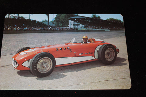 1953 JIm Rathman 6x9 Indy 500 Postcard
