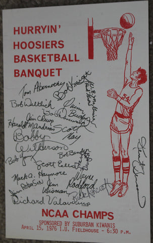 1976 Indiana University Basketball Banquet Program, NCAA Champs